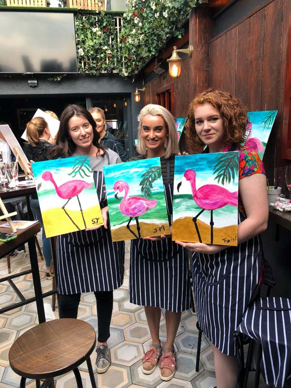 group bookings paint and prosecco dublin