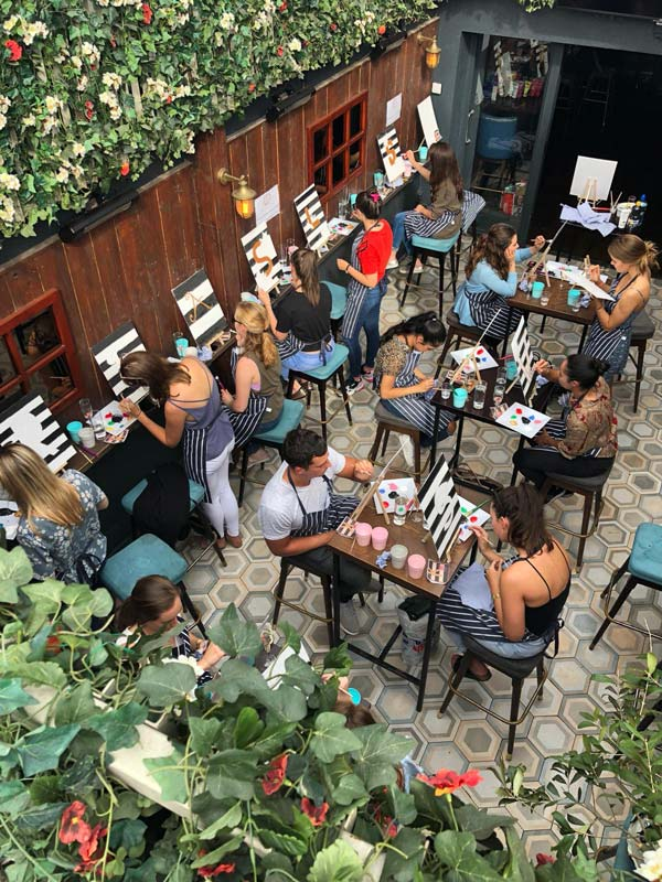 paint and prosecco dublin city event